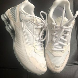 Nike shoe off white color with cream